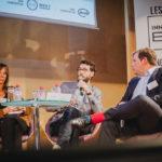 Martin Sauer (Manutan, au centre) et Luc Siri (Rexel) - Les Enjeux Innovation B2B 2016 Crédit photo : Guillermo Gomez