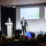 De gauche à droite : Stéphane Loire (Next Content) et Marc Lolivier (Fevad) - Les Enjeux Innovation B2B 2017 Crédit photo : Guillermo Gomez