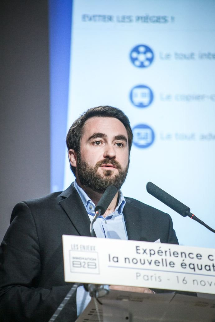 Axel Mouquet (Webhelp) - Les Enjeux Innovation B2B 2017 Crédit photo : Guillermo Gomez
