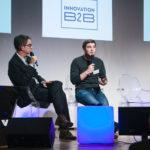 Jérôme Morlon (Next Content, à gauche) et Pierre-Antoine Foreau (Comparateur Agricole) - Les Enjeux Innovation B2B 2017 Crédit photo : Guillermo Gomez