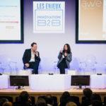 Alexandre Garnier (AWE) et Marie-Alix Roussotte (Algeco) - Les Enjeux Innovation B2B 2018 Crédit photo : Guillermo Gomez