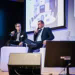 Jérôme Morlon (Next Content) et Michel-Marie Maudet (Linagora - LinTO) - Les Enjeux Innovation B2B 2018 Crédit photo : Guillermo Gomez